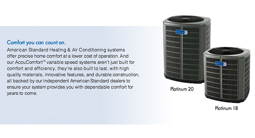 Platinum 18 Heat Pumps by American Standard installed by Sub Zero Heating and Cooling
