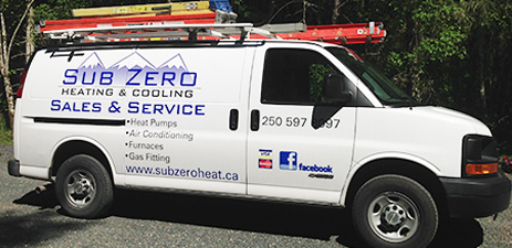 Sub Zero Heating and Cooling Service Areas