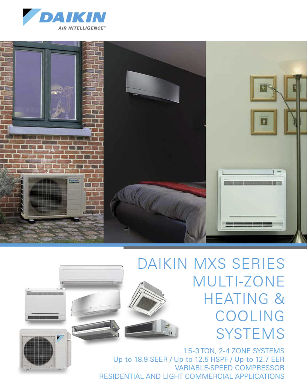 Daikin MXS Series Brochure Cover